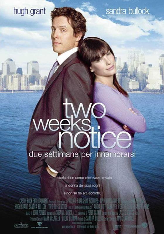 """Sandra Bullock, Hugh Grant in """"Due settimane per innamorarsi (Two Weeks Notice)"""""""
