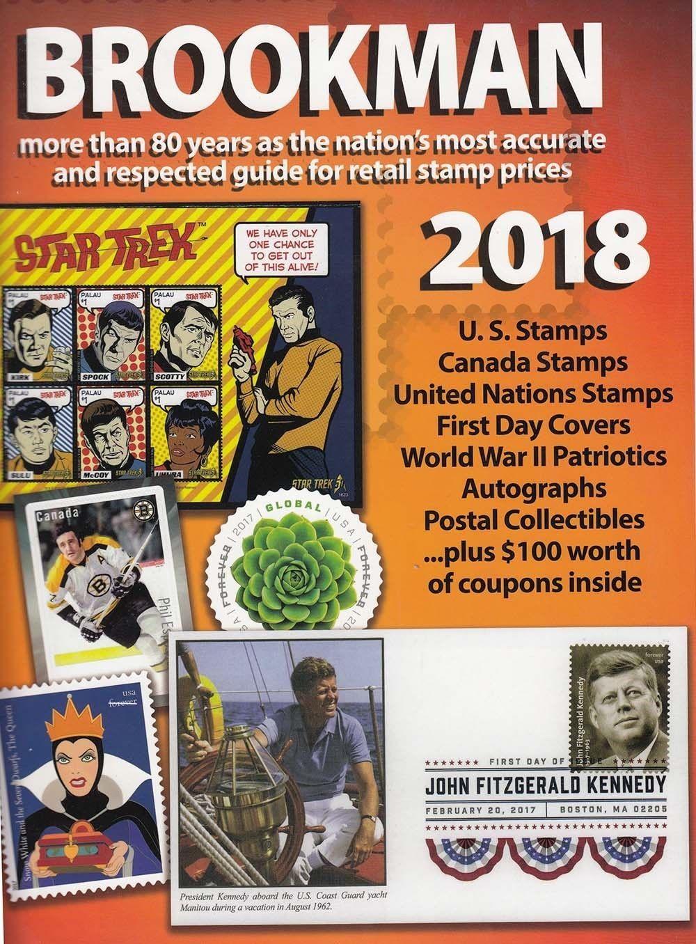 Publications 701: 2018 Brookman Us Canada + Un Stamp Catalog