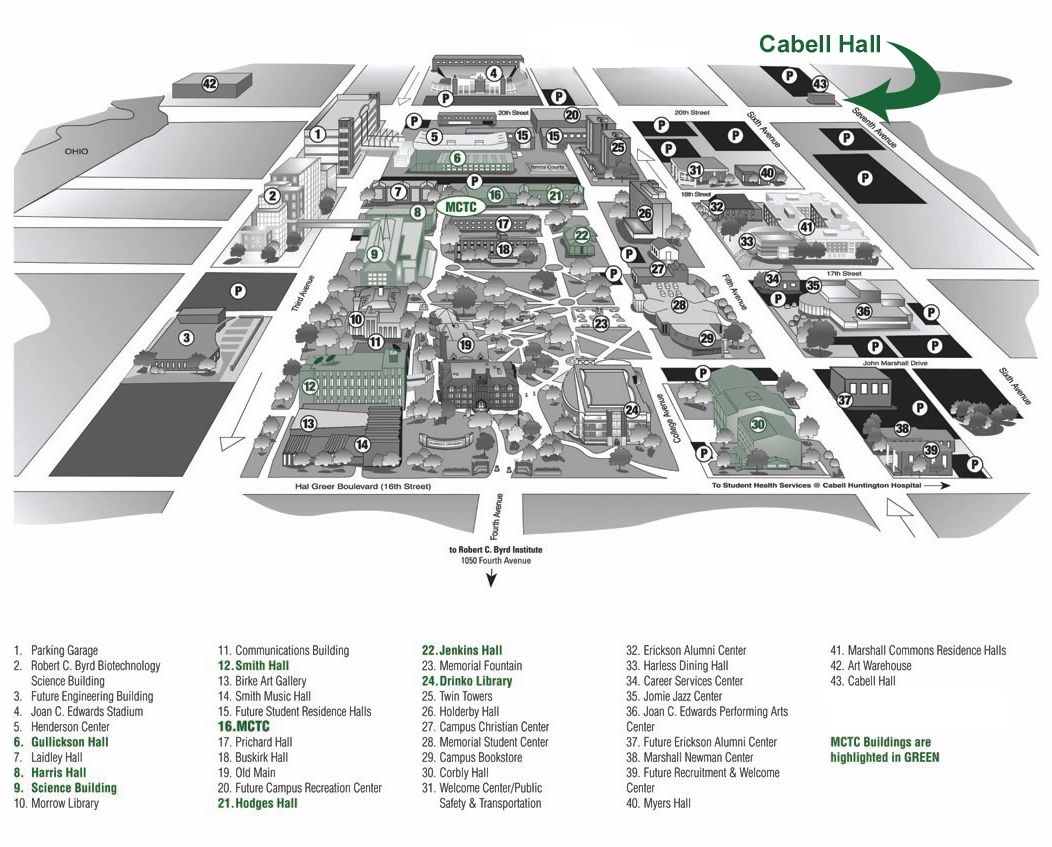 Marshall University Campus Map Campus Map of Marshall U! Best school in the world :) | Marshall