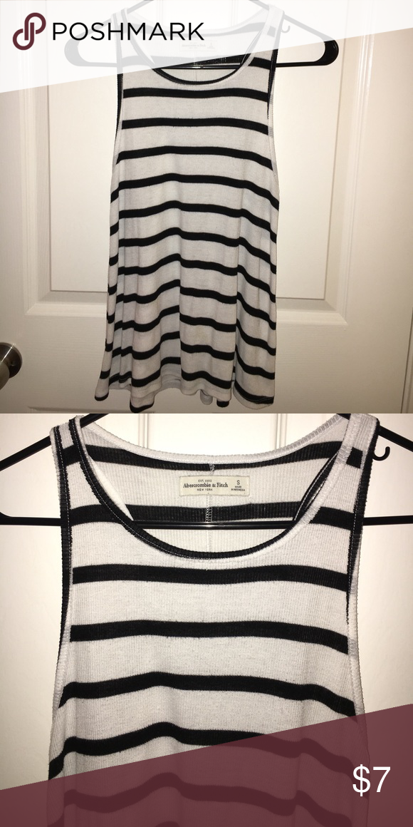 A&F Striped Racerback Gently worn, in excellent condition. Style is racerback and tank is flowy - NOT fitted. Can fit SM/M. Abercrombie & Fitch Tops Tank Tops