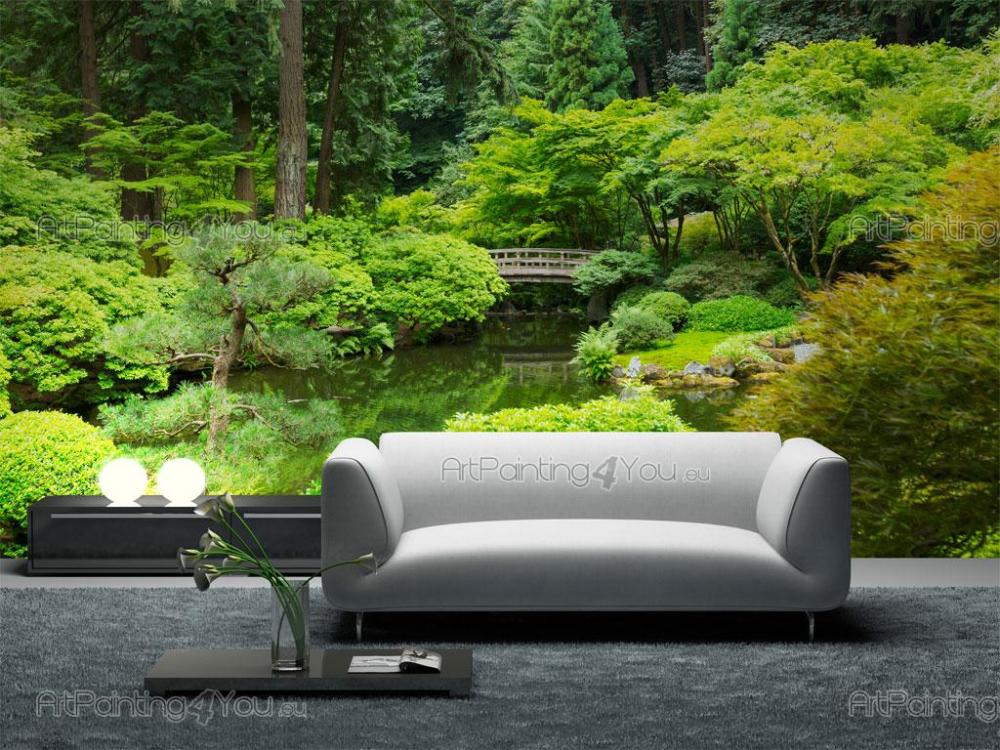 poster mural jardin japonais jardin