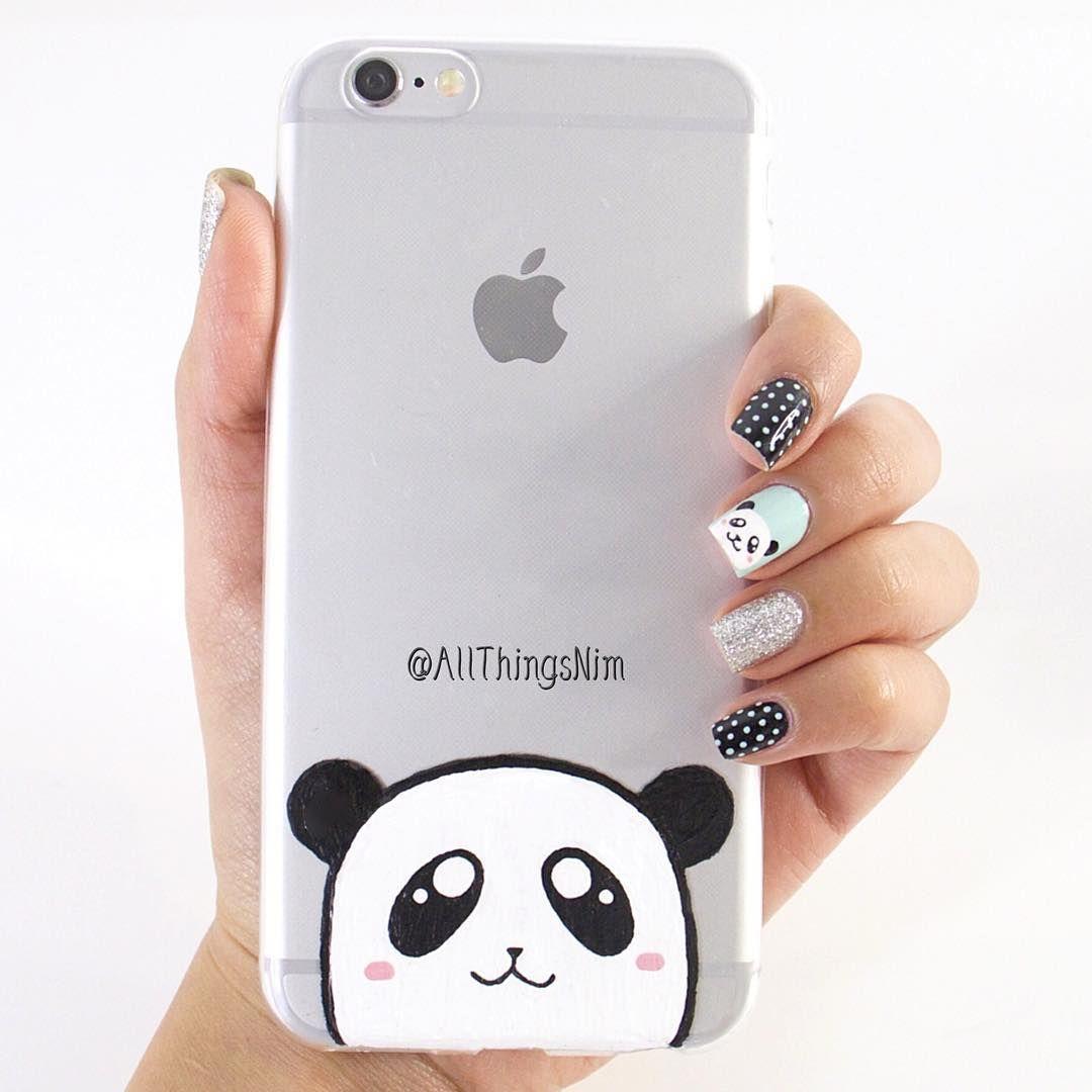 "4500dd136 ""DIY Panda Phone Case tutorial is up on my YouTube (Link in my bio). ❤ """