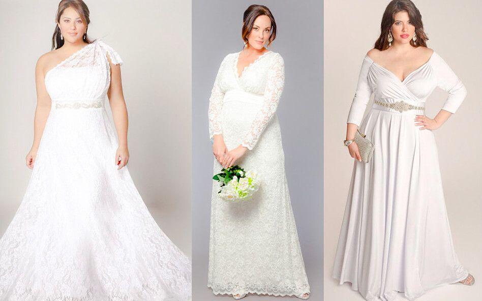 Los vestidos más bonitos para novias con muchas curvas | Gordita ...