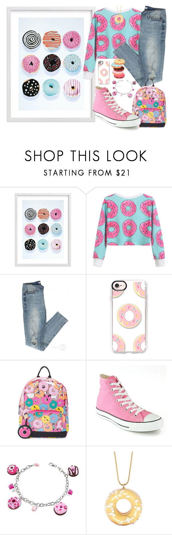"""""""Go Nuts Over Donuts!"""" by tlb0318 ❤ liked on Polyvore featuring Casetify, Converse, Dolci Gioie and Tadam!"""