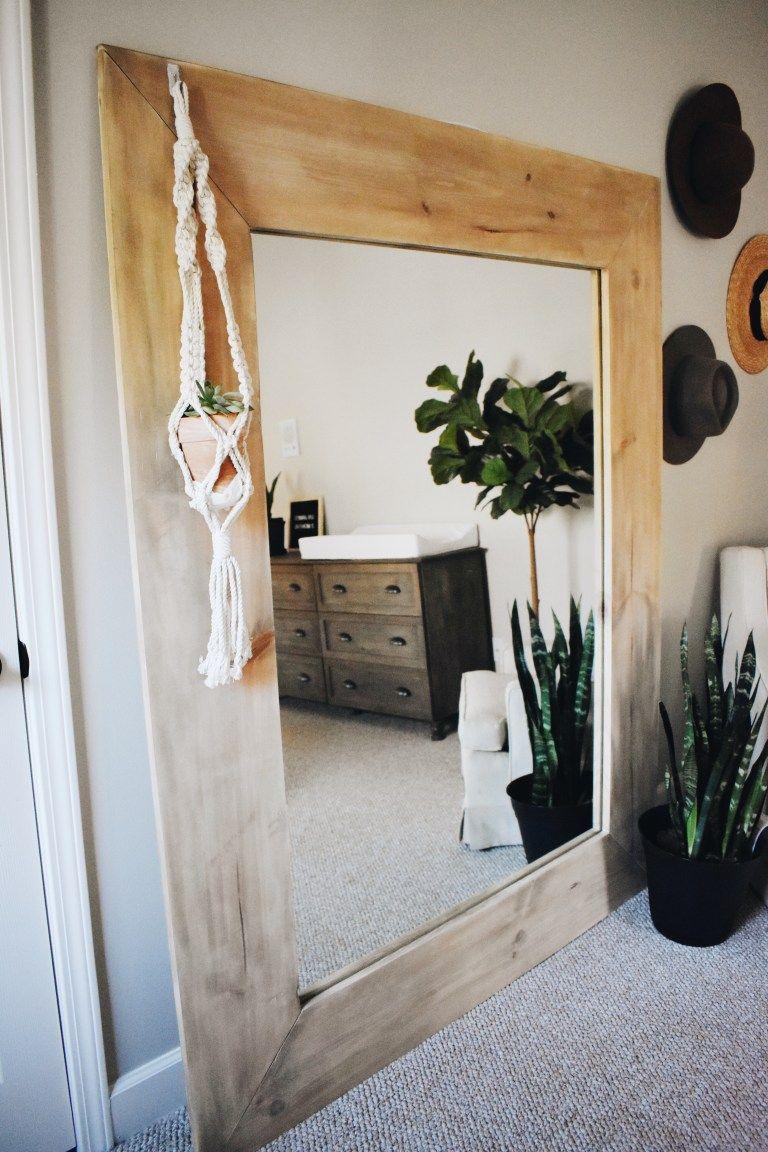 Diy wood framed mirror wood framed mirror home decor