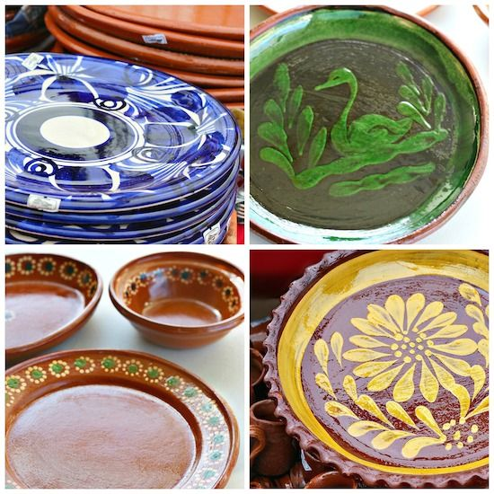 Large dinner plates made of clay. Mexican pottery. .mexicoinmykitchen.com & Large dinner plates made of clay. Mexican pottery. www ...