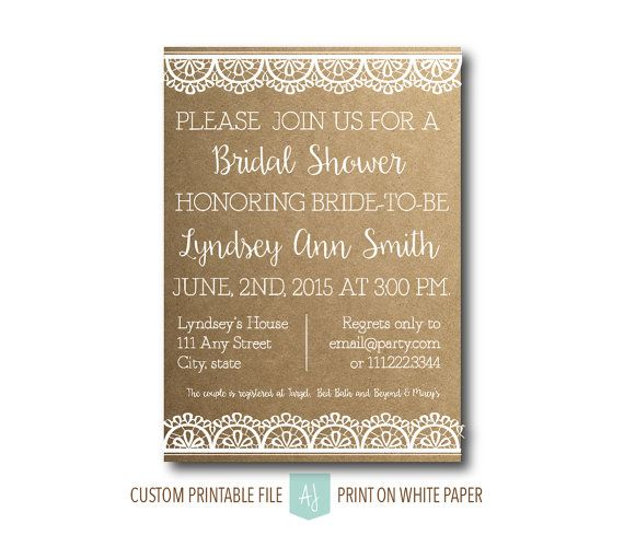Printable bridal shower invitation with customization colors shown printable bridal shower invitation with customization colors shown are examples only and any colors can filmwisefo Gallery