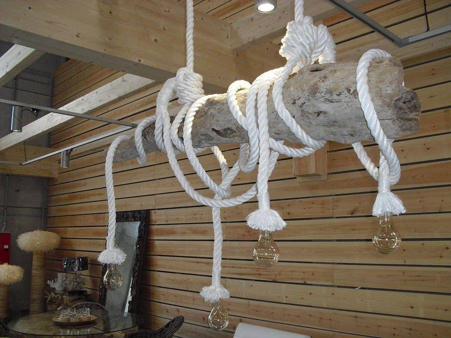 L mpara de rama de rbol con bombillas decorativas - Lampara industrial vintage ...