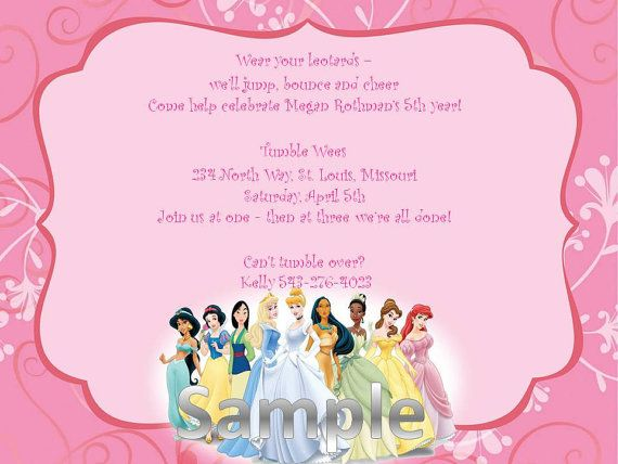 disney princess invitation printable party invitations disney