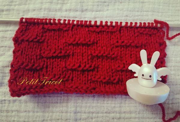 Bonjour les tricoteurs ! Aujourd'hui, je vais vous expliquer comment apporter un peu de relief et de fantaisie à un ouvrage simple avec ce point assez rigolo : la chenille horizontale !