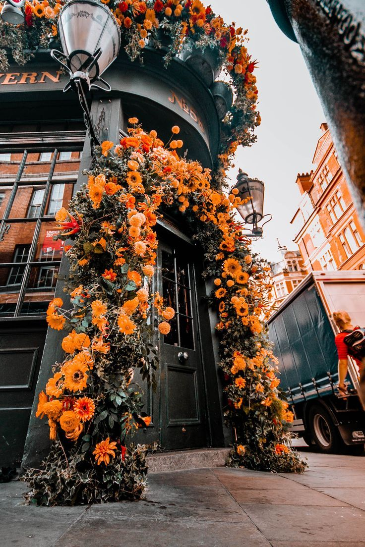 TOP LONDON FLOWERS! Mr fogg�s tavern is one of the most beautiful london flowers cafes to visit in