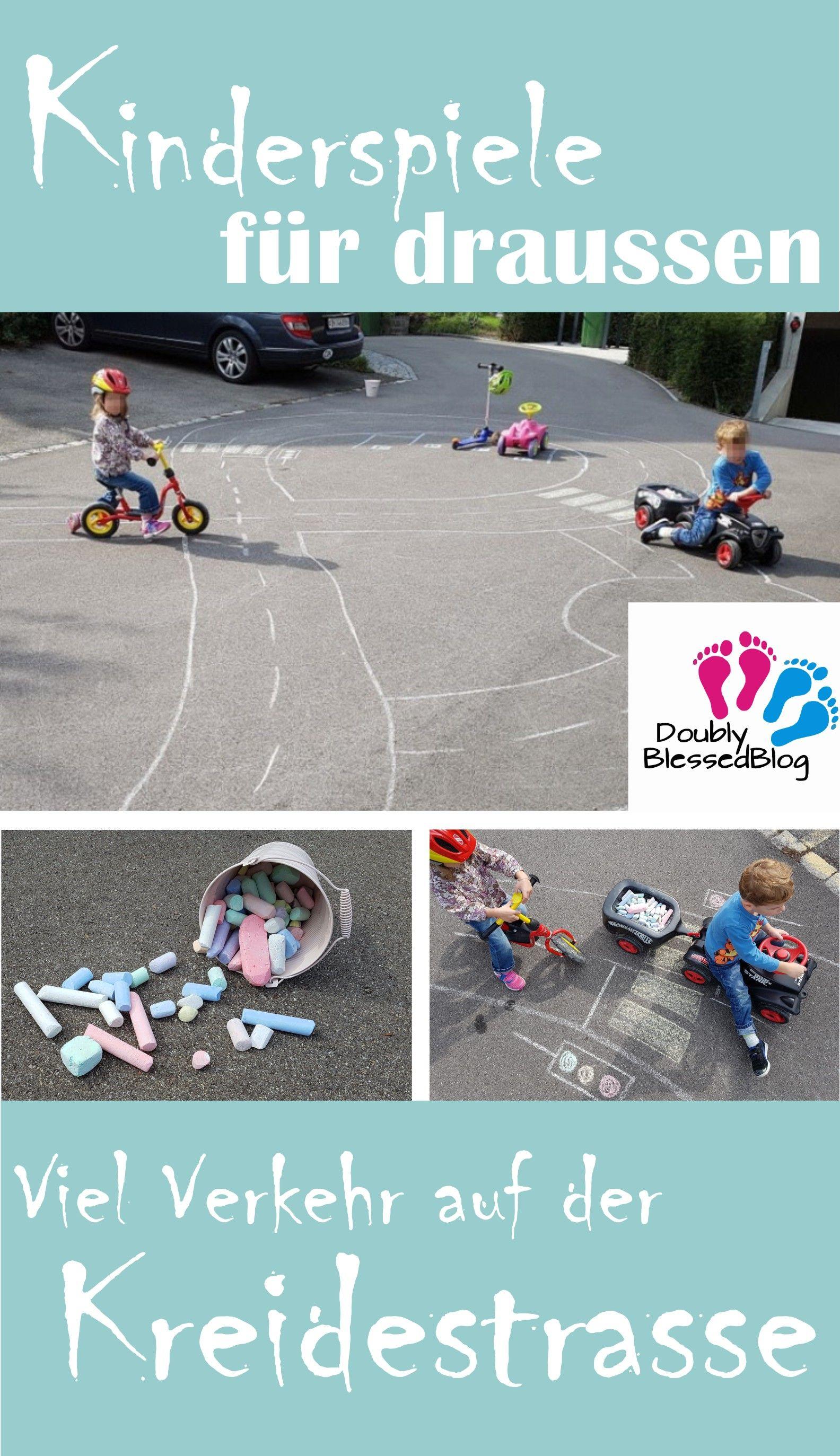 Kinderspiele Verkehr Auf Der Kreidestrasse Doublyblessedblog Kinder Spiele Draussen Kinderspiele Auto Spiele
