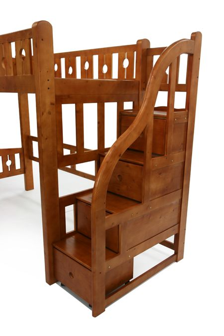 送料無料 新品 階段付きロフトベッド ロフトベッド システムベッド