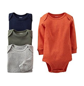 a41108f0f773 Carter s® Baby Boys  Assorted 4-pk. Long Sleeve Heather Bodysuits at ...
