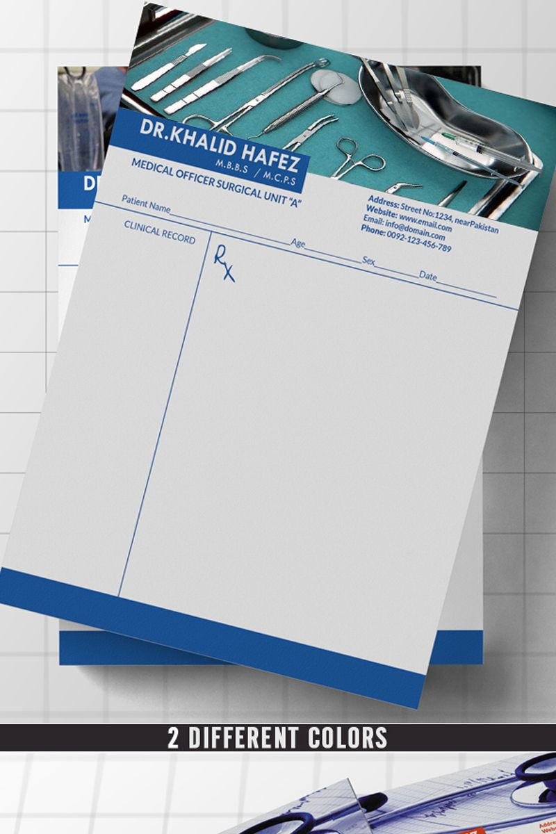 Doctor/Hospital Letterhead Corporate Identity Template