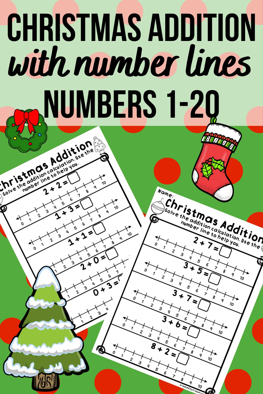 Number Line Addition Christmas No Prep Printables Kindergarten 1st Grade Number Line Christmas Addition Christmas Math [ 1500 x 1000 Pixel ]