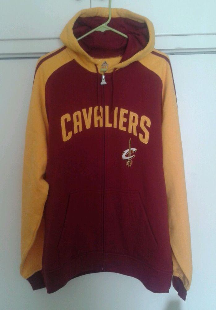 brand new 0b883 bce32 Cleveland Cavaliers NBA Basketball Red Yellow Adidas Zip Up ...