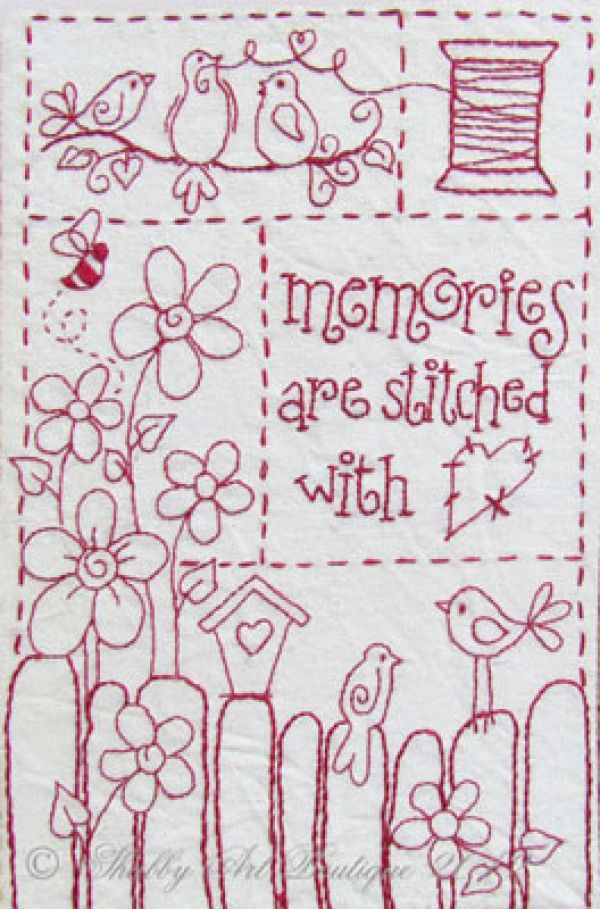 8 Simply Adorable Redwork Patterns Pinterest Embroidery Pdf And