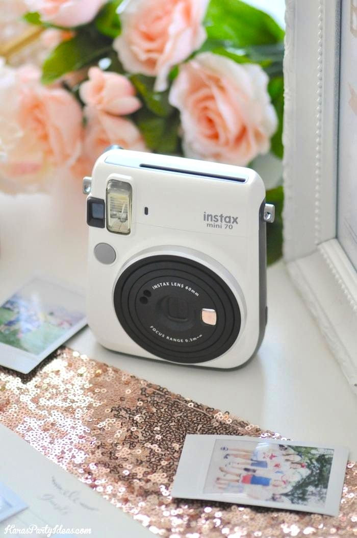 Photo Wedding Bridal Shower Guest Book With Fuji Instax