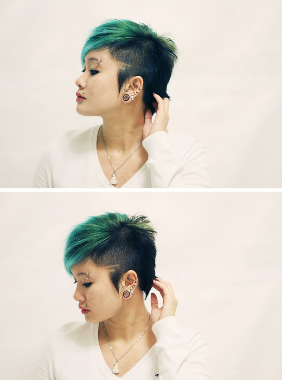 Colorful Cuties Hair Styles Alternative Hair Short Hair Styles