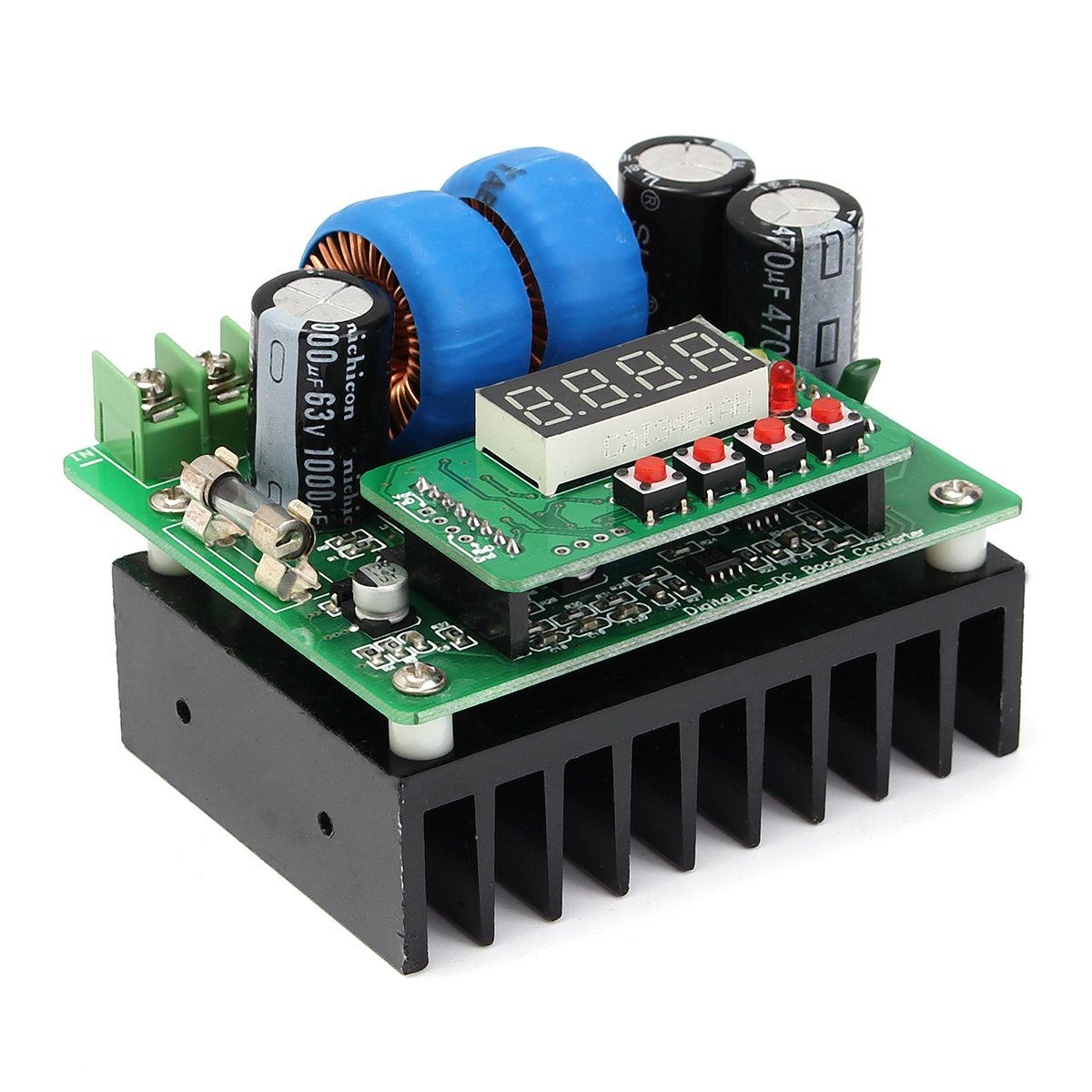 Us2186 400w Dc 8v 80v 10a Digital Voltage Current Boost Module 3pcs 12v Delay Timer Relay Turn On Off Controlled Step Up Power Supply 85 X 75 60 Mm Small Volume Large Booster