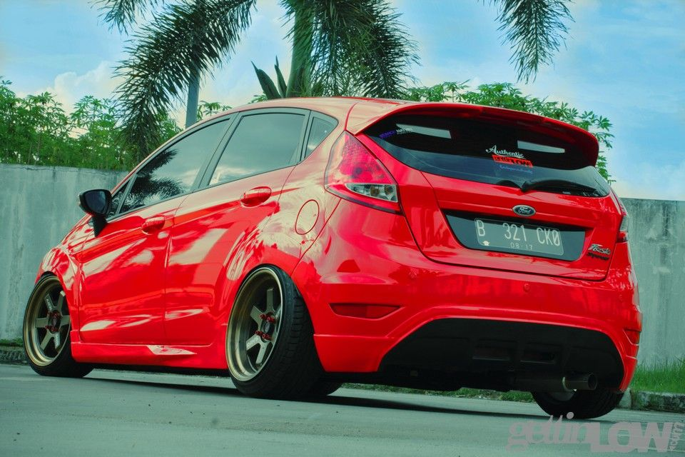 Stanced Red Ford Fiesta By Ericko Pandu Ford Fiesta Modified Ford Fiesta Ford Fiesta St