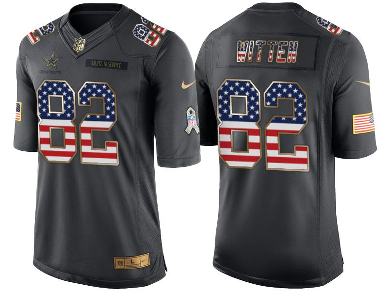 29039a22 ... Nike Cowboys Jason Witten Black Mens Stitched NFL Limited USA Flag  Salute To Service Jersey nfl NFL Nike Dallas Cowboys 82 Jason Witten Green  ...