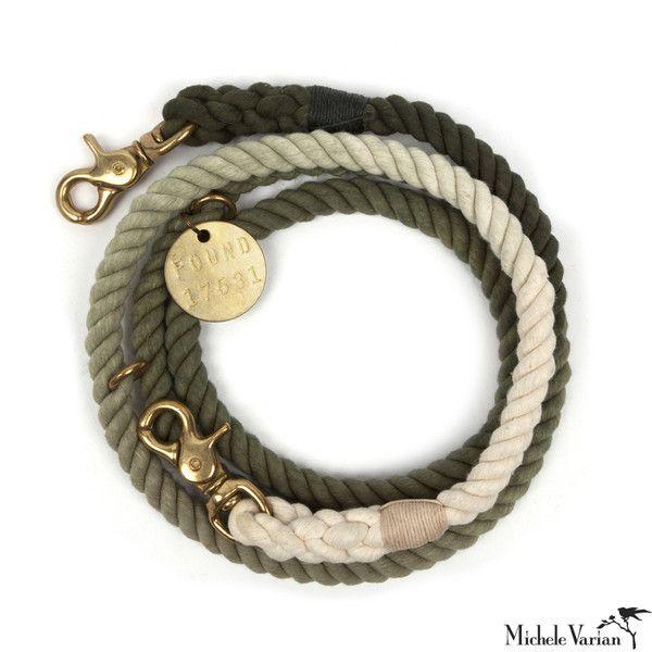 Fade Rope Dog Leash Olive