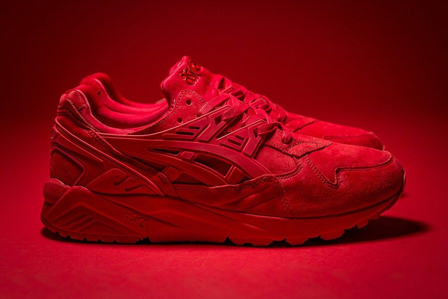 asics sneakers all red