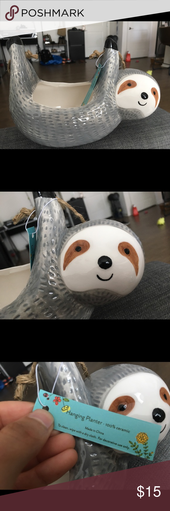 Urban outfitters hanging sloth planter Brand new with tags