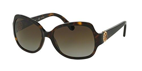 251a6c7f3c2a Tory Burch Womens Sunglasses TY7059 57mm Dark Tortoise 1378T5 *** You can  find more details by visiting the image link.Note:It is affiliate link to  Amazon.