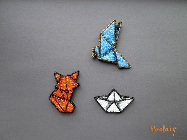 bluefairy art: Fox, broszka