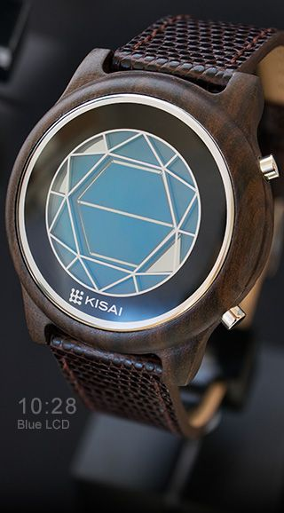Polygon Wood Blue LCD: Very nice watch-I like the blend of wood and the futuristic display.