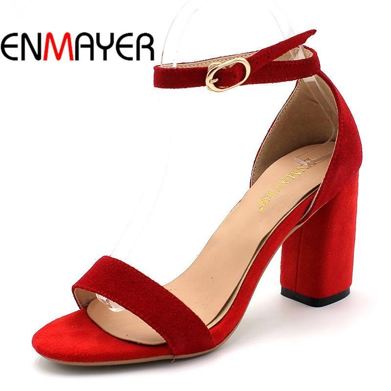 7567852e72df Women Casual Fashion Pumps Ankle Strap Peep Toe Buckle Square Heel Shoes