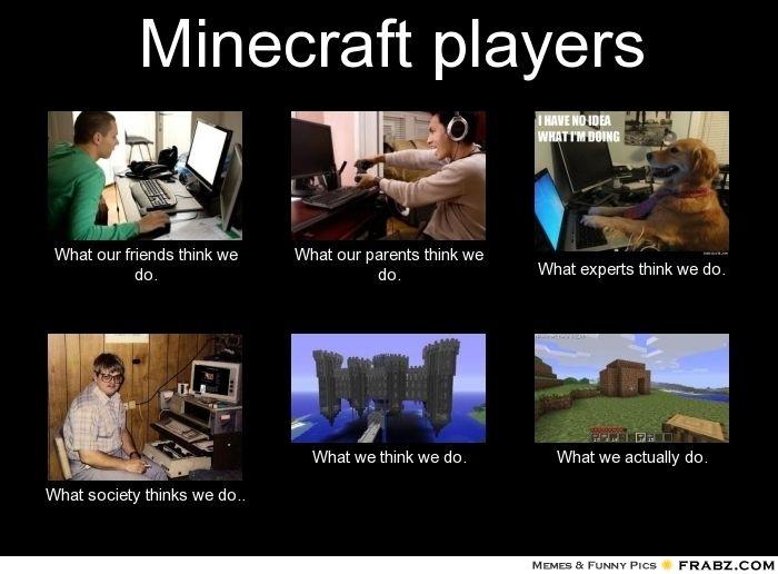 Minecraft Players Minecraft Memes Minecraft Minecraft Funny