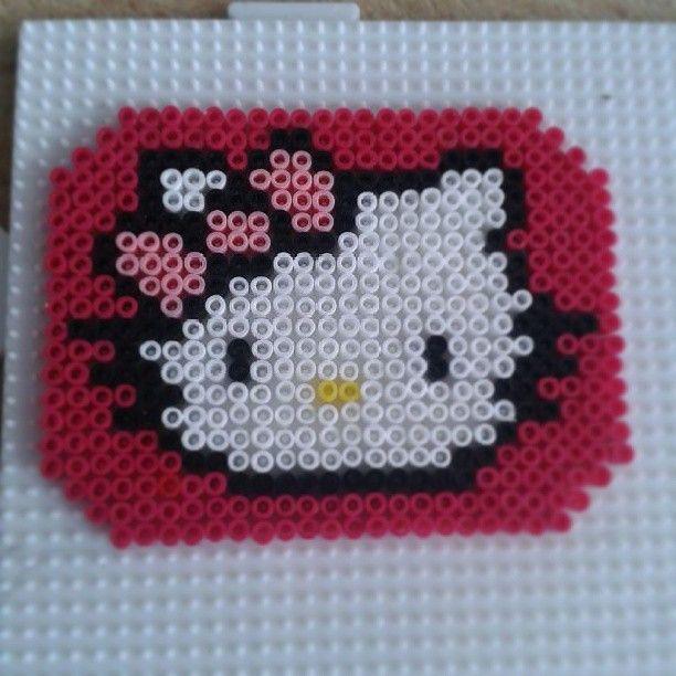 Hello Kitty hama beads by Frauke Hahne