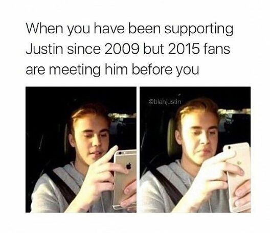 The real/true Beliebers are the ones sitting at home supporting Justin.