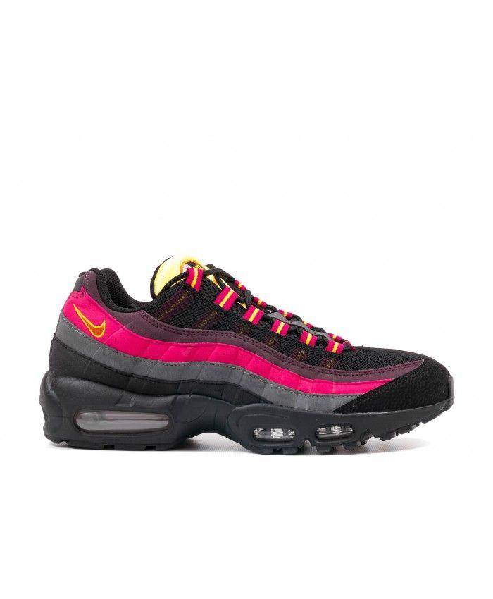 code promo 7f318 1ddb0 Chaussure Femme Nike Air Max 95 Noir Rose Orange Gris ...
