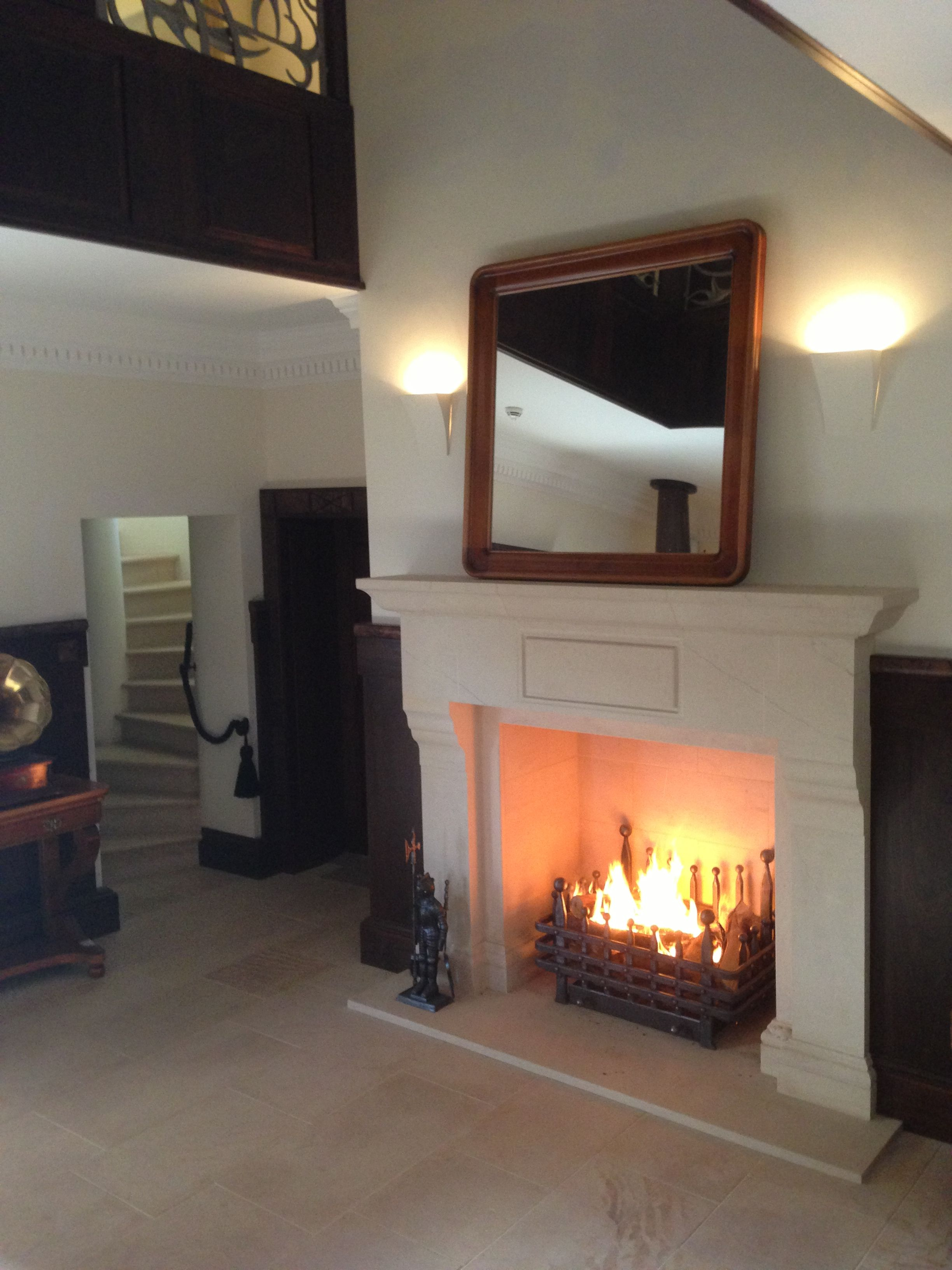 Templestone Masonry Ltd Large Stone Fireplace In Scotland