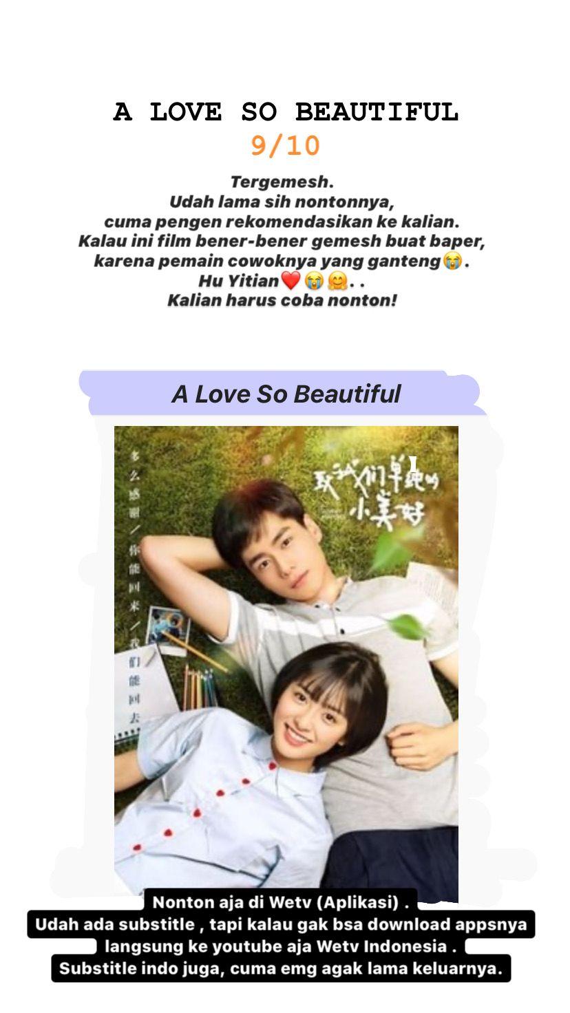 A Love So Beautiful Film Romantis Buku Film Film