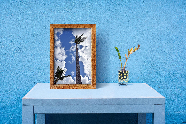 Palm Tree Print Poster Caribbean Wall Art Nature Photography Sunny