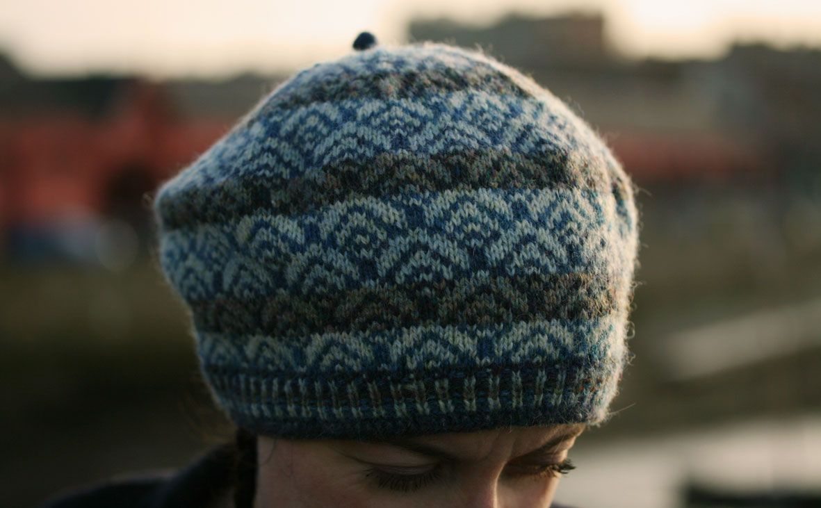 When I began thinking about this design, I was reading about the intertwined histories of fishing and knitting, and Tom and I were coincidentally (and very happily) going through a kipper-eating ph…