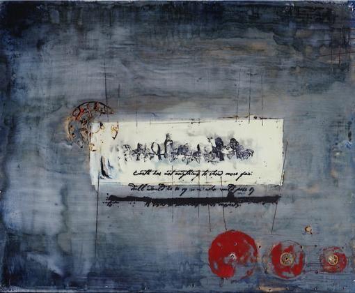 Encaustic Art Original Painting: Steampunk