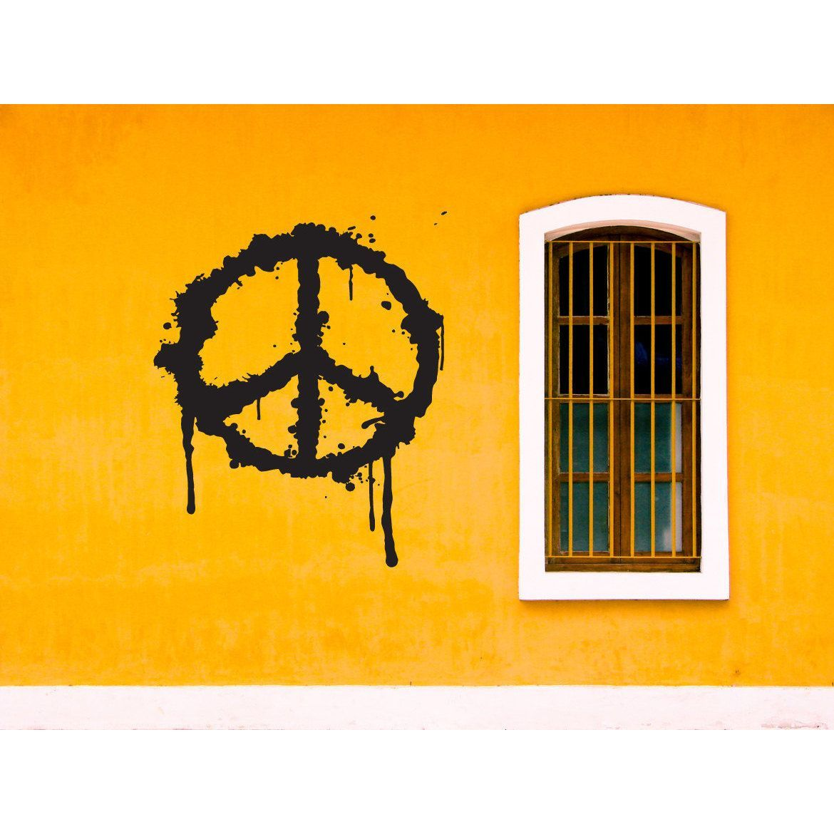 Graffiti art for your home - Find Best Value And Selection For Your Peace Sign Graffiti Paint Job Hippie Flower Child Wall Art Sticker Decal Search On Ebay World S Leading Marketplace