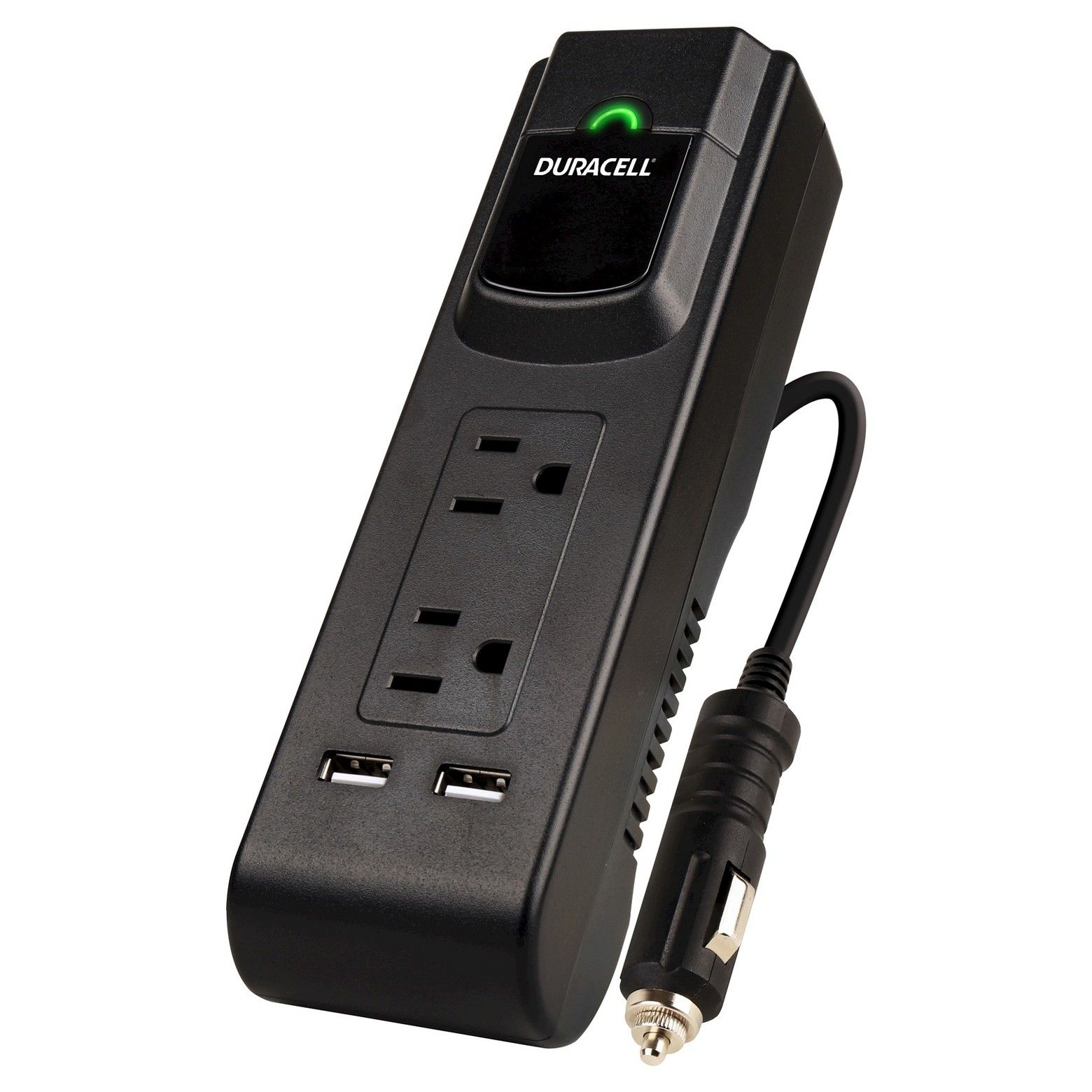 The Duracell 175Watt Powerstrip inverter converts your