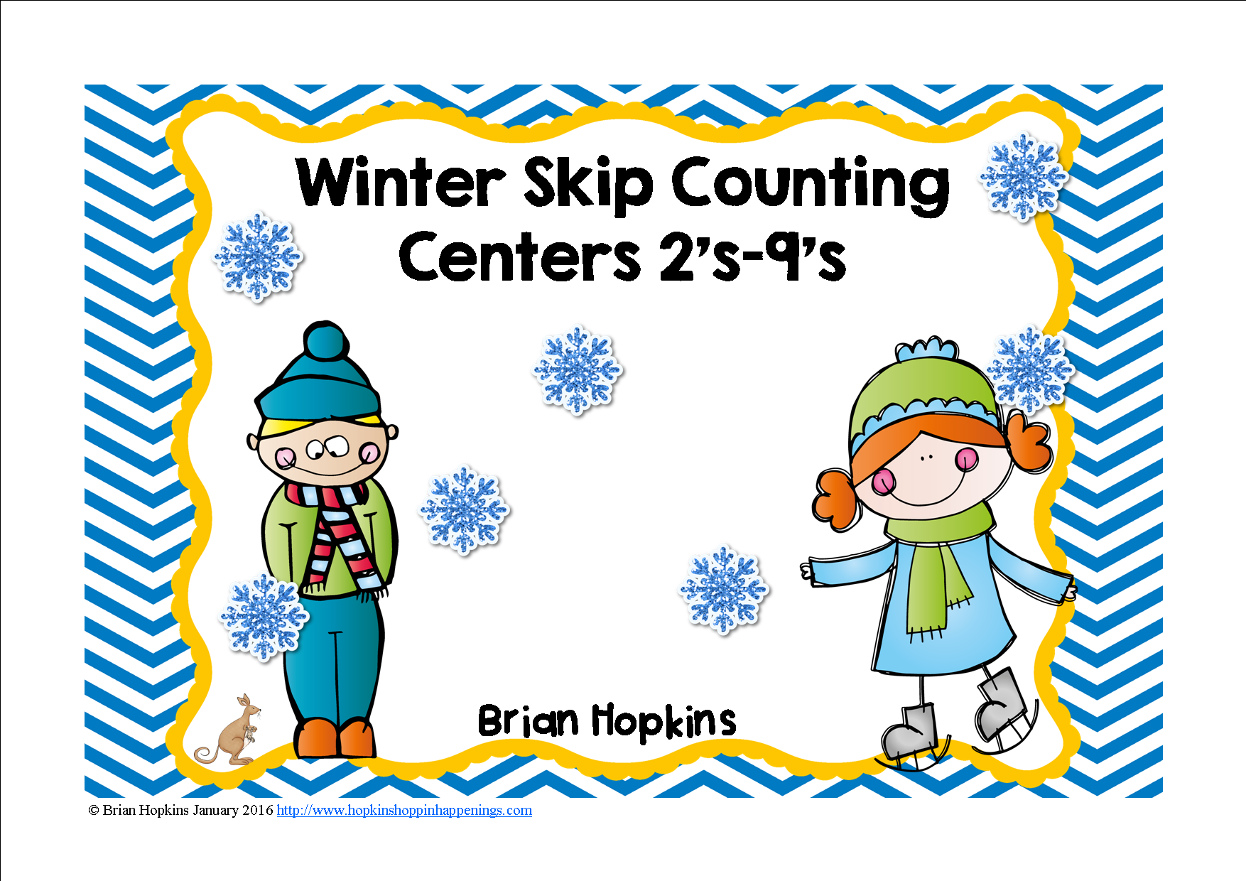 Winter Skip Counting Multiples Centers