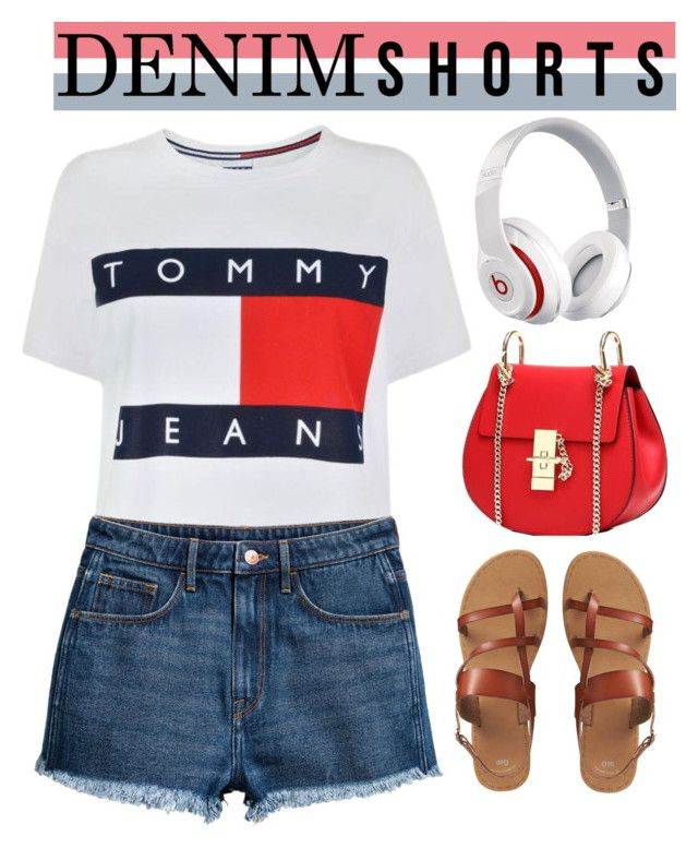 """""""Denim Cutoffs"""" by keepfashion92 ❤ liked on Polyvore featuring Tommy Hilfiger, H&M, Gap and Beats by Dr. Dre"""