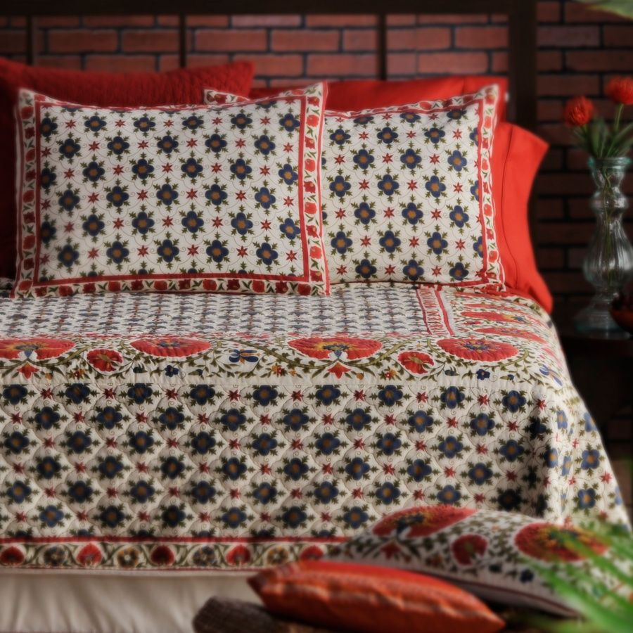 Sarita Handa suzani quilt and shams | Bedrooms | Pinterest | Quilt ... : suzani quilt - Adamdwight.com