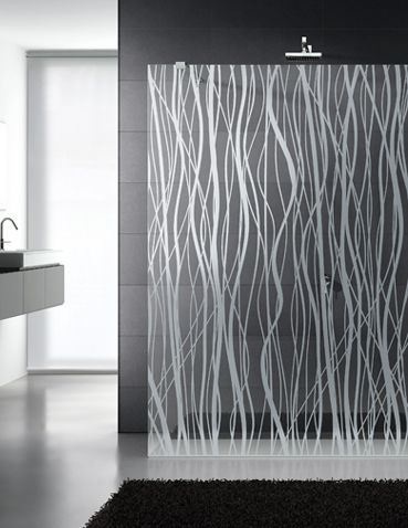 Etched Shower Doors etched glass shower enclosure | for the home--inside | pinterest