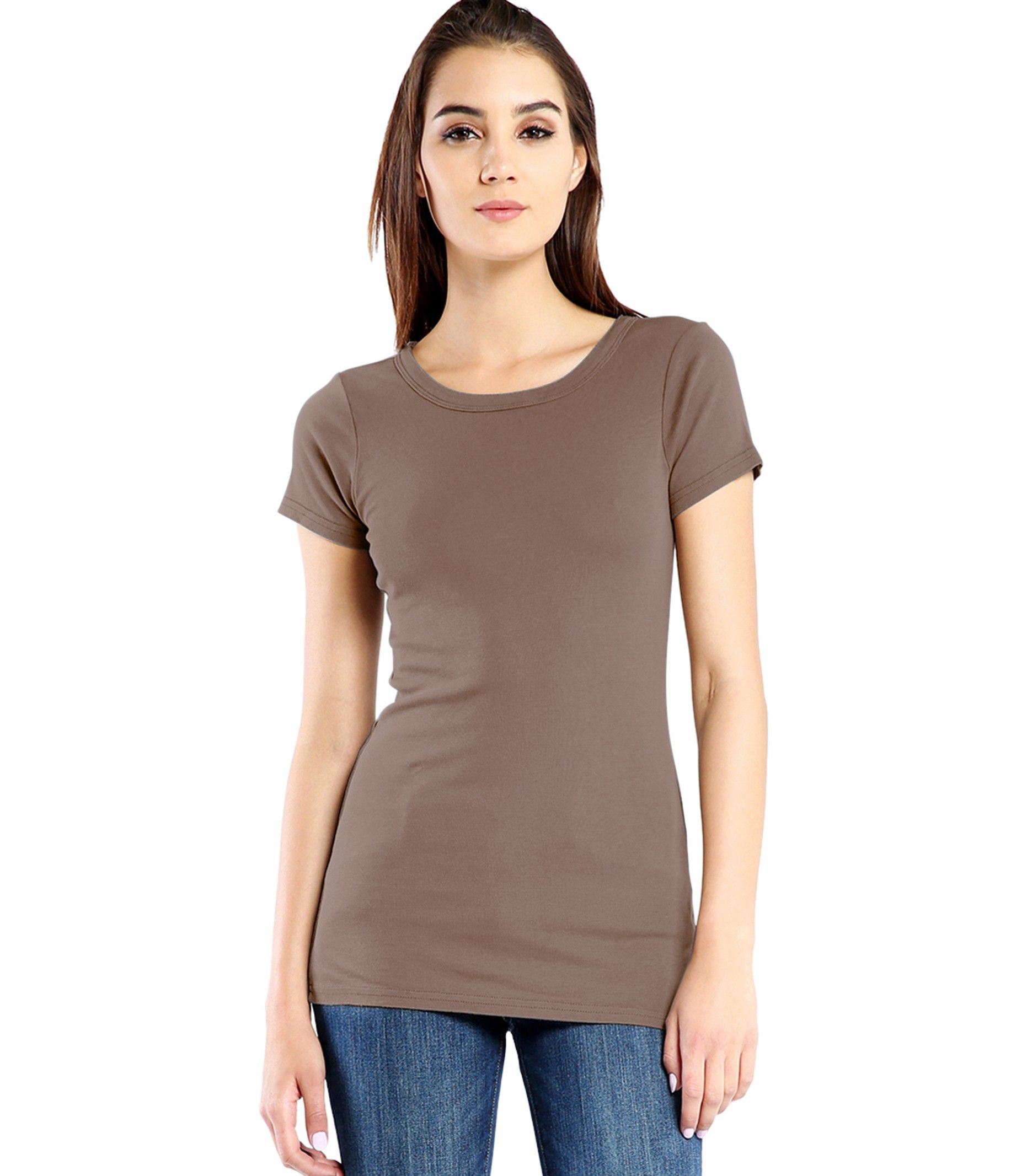 """Fitted Body Length: 27"""" 100% Cotton Machine wash cold, Tumble dry low Made in USA  Model is 5'9"""", wearing a size OS"""